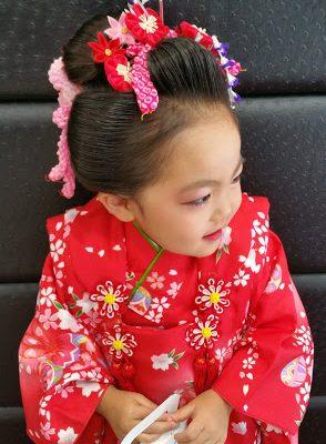 七五三 三才 日本髪